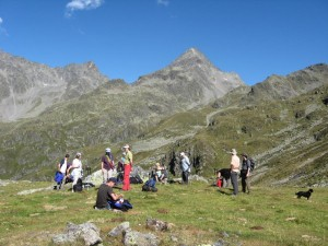 "Mittagspause im Seminar ""Naturretreat"" in Osttirol"